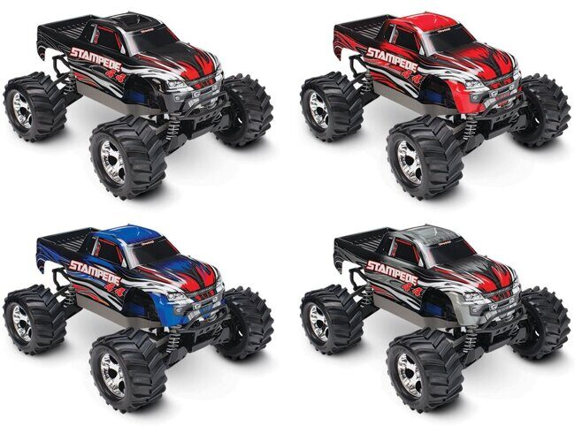 Радиоуправляемый монстр Traxxas Stampede (NEW Fast Charger) 4WD RTR масштаб 1:10 2.4G - TRA67054-1